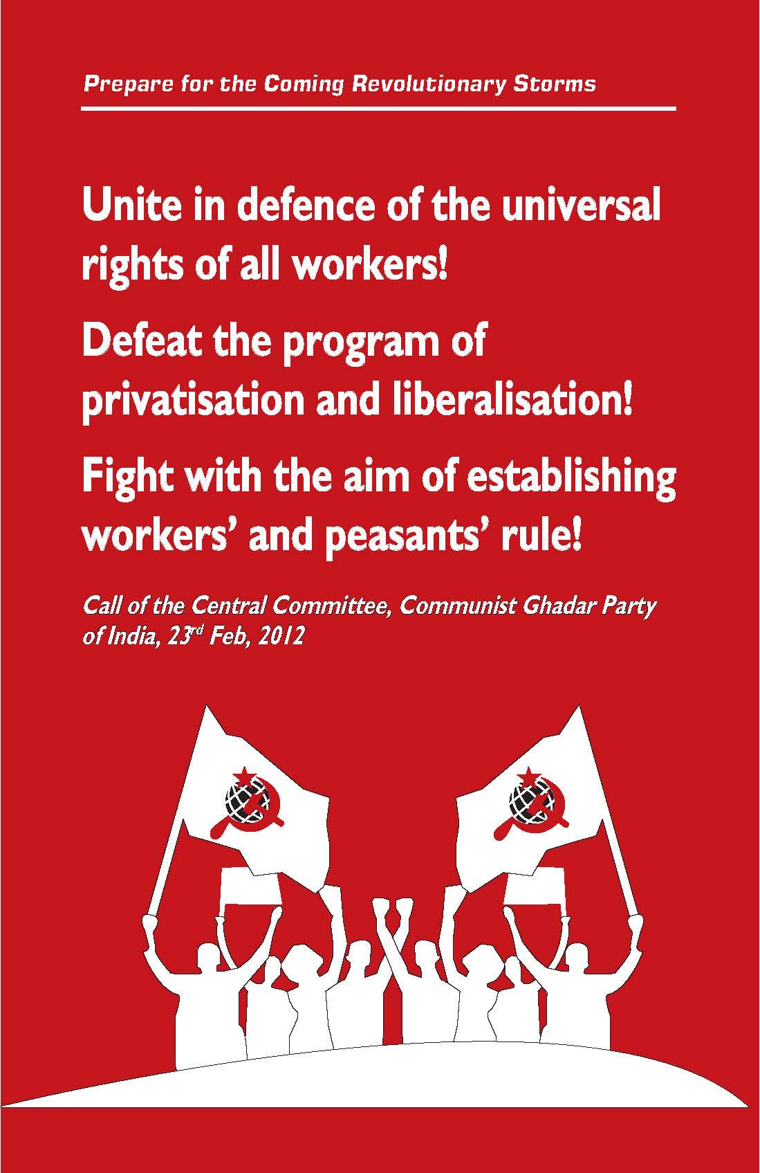 Call to the Working Class