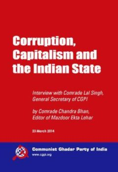 Corruption capitalism and the Indian state