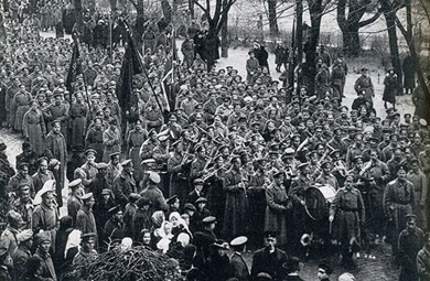Demonstration in Petrograd in May 1917