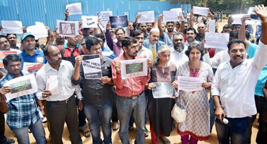 IT workers protest at Freedom Park