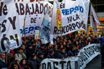Demonstration in Buenos Aires in support of Pepsico workers