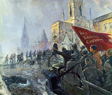 Street fighting in Petrograd