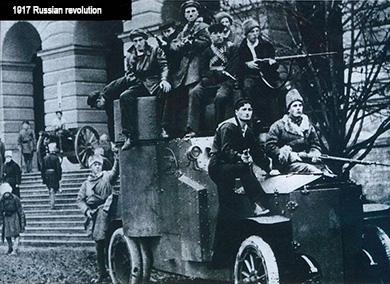 oct revolution - Bolshevik soldiers in Petrograd