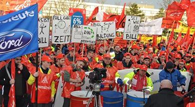 A strike at Ford Saarlouis