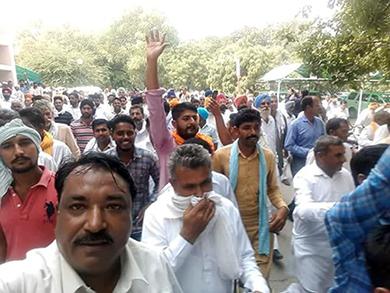 Demonstration in Fatehabad