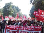 Asha and Anganwanri workers' Demonstration