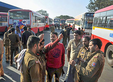 KSRTC strike in Bengaluru