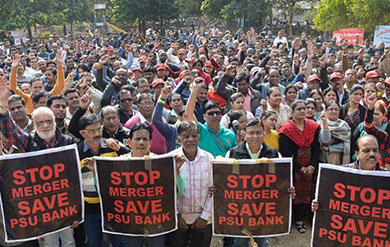 Bank workers