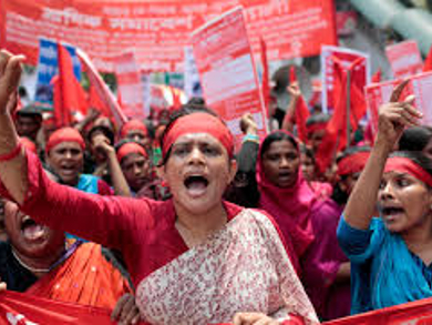 Garment workers strike in Bangladesh