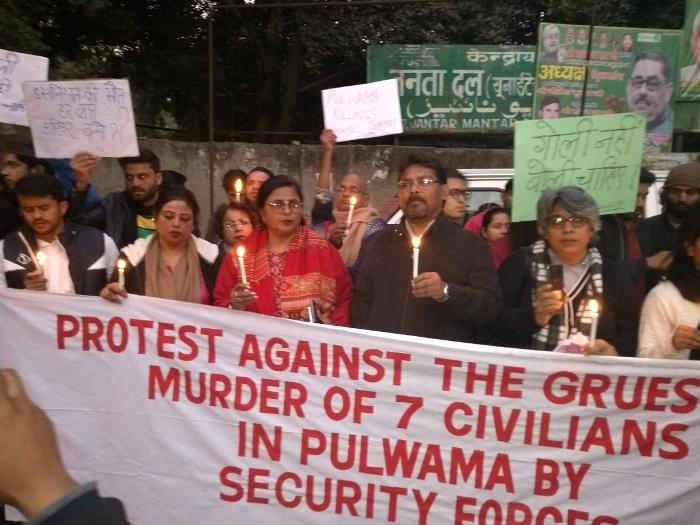 Dharna on Pulwama killing