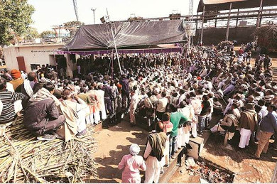Sugar mill workers strike in UP