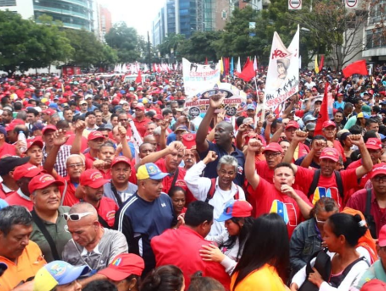 demo in support of Maduro