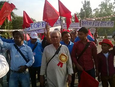 AILRSA march against FDI