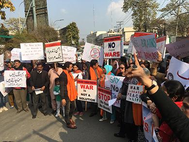 Demonstration in Pak