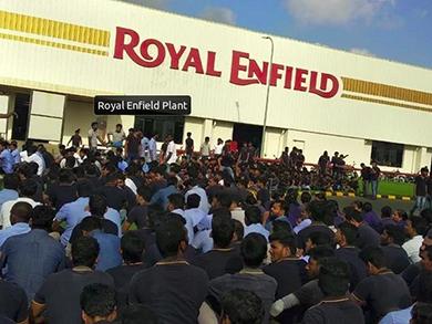 Royal Enfield workers strike