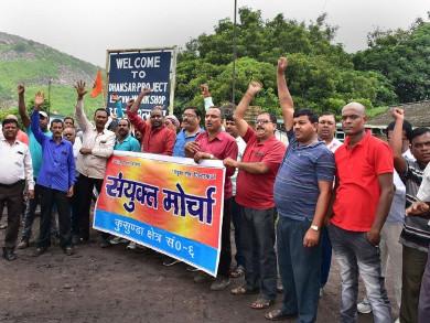 Coal workers demonstrating against 100% FDI