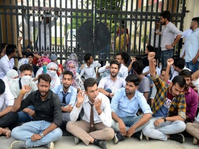 Uttarakhand students protest