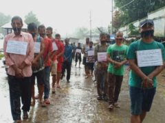 Manipur FCI contract workers protest