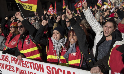 French workers country-wide strike