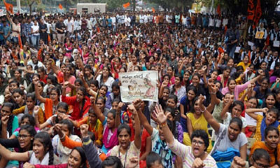 Protest against rape and murder of Hyderabad vet