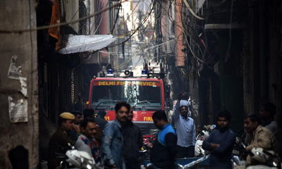 Fire in factory in Delhi where 43 workers died