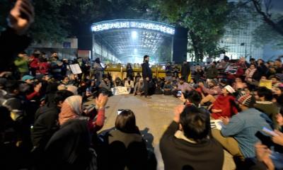 Protest outside Delhi police headquarters