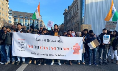 Indian diaspora in the US protesting against Indian govt linking of religion to citizenship