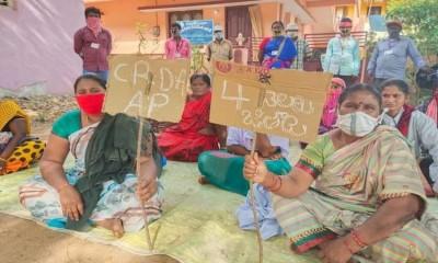Sanitation workers in Amaravati