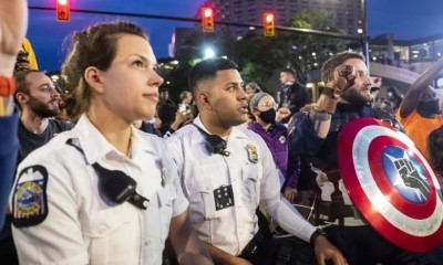 Columbus Ohio police officers joining protests june 1 2020