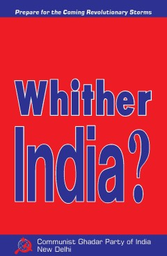 Whither India Cover page