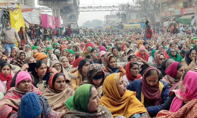Women participants at dharna in Singhu Border