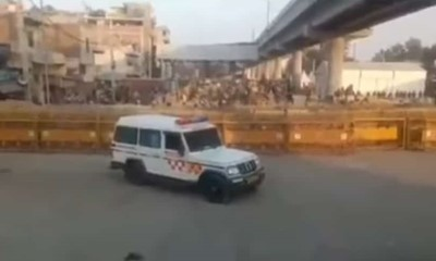 Ambulance prevented from attending to emergency call due to police barricades