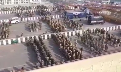 Massive deployment of troops