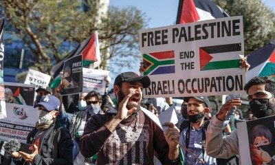 Johannesburg, South Africa, on 11 May 2021 outside Israeli Trade office
