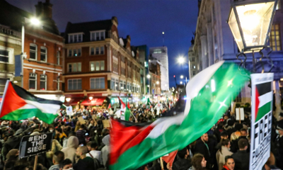 Protest in London in support of struggle of Palestinian people