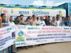 BPCL workers demonstration
