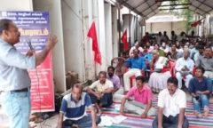 BSNL workers hunger strike